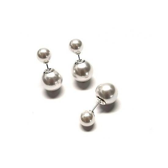 77f490894cc7 Pendiente dos bolas perlas